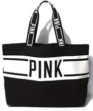 New Victorias Secret PINK Canvas Large Tote Bag Yoga Beach Holiday Gym Travel