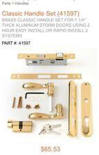 Andersen Handle Set 41597 Classic Style Brass Storm And Screen Door