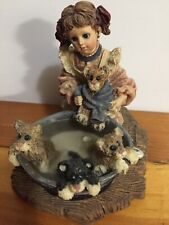 "Vintage 1997 Boyd's ""Wash Day� Wendy With Bronte Keats Tennyson & Poe Figurine"
