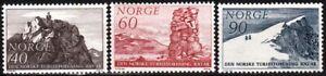 NORWAY 1968 Tourism. Mountain Climbing. Complete set, MNH