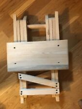 Handmade Foldable Wooden Stool  Coffee Table Stools Footrest Fishing Stool