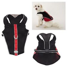 REFLECTIVE BREATHABLE MESH HARNESS for DOGS - Red & Black xxSmall - CLOSEOUT