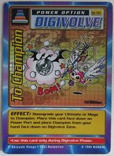 TO CHAMPION DIGIVOLVE DIGIMON ST-55 1st EDITION CARD           (INV10774)