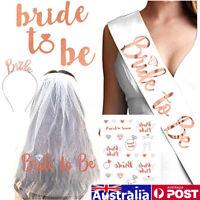 AU Rose Gold Hens Sash Tiara Bride To Be Crown Bridal Shower Team Bride Decor !