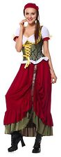 Oktoberfest Renaissance Medieval Wench Gown Dress Costume S-XL  German Beer Girl