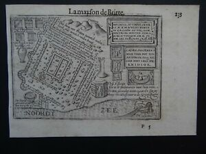 1609 LANGENES atlas Kaerius map  KATWIJK - NETHERLANDS - la Mayson de Britte