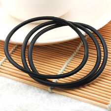 10Pcs Silicone Gummy Bands Bracelets Rubber Jelly Bracelets Black Fashion