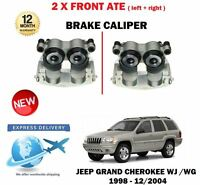 FOR JEEP GRAND CHEROKEE 1998-2004 NEW ATE LEFT + RIGHT 2 X FRONT BRAKE CALIPER