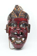 Red Nepalese  HIMALAYAN MUSEUM  tribal dance art wood Ritual Colorful Bodhi Wood