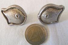 """AGATHA : Boucles d'Oreille à clips """" Poisson """" métal argenté."""