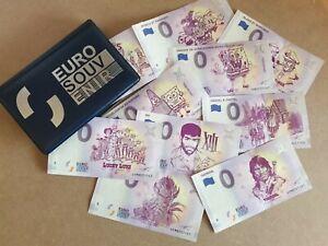 Lot 10 Billets Souvenir Touristiques BD CARTOON + Album de rangement !