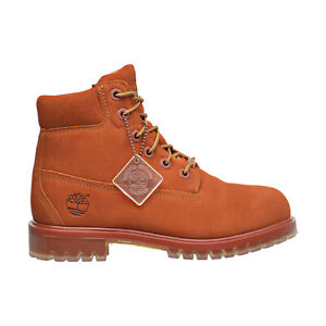 Timberland 6 Inch TPU Outsole Waterproof Suede Prm Big Kid's Boots Rust tb0a1bks
