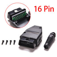 Well OBD2 OBDII 16Pin Female Connector Adapter with Screws Diagnostic Tool