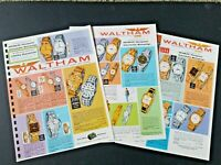 Vintage 1962 WALTHAM WATCHES Catalog Pages from Manar Sales Catalog