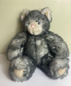 "Friend for Life Born Abroad Vermont Teddy Bear Gray Soft Cat Kitten Plush 13""VGC"