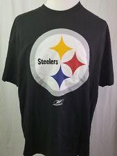 NFL TEAM APPAREL PITTSBURGH STEELERS BLACK T-SHIRT MENS XL REEBOK SS