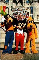 Postcard Walt Disney World Goofy Mickey Mouse Pluto VINTAGE
