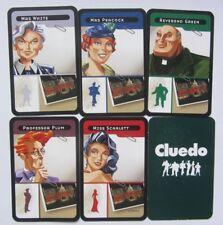 Conjunto de 6 tarjetas de caracteres Cluedo Juego De Mesa Parker de 2003 reemplazos de Repuestos