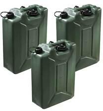 3x20L Olivgrün Kraftstoffkanister Benzinkanister Kraftstoff Kanister UN-Zulassun
