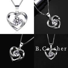 B.Catcher Kette Herz Damen Halskette 925 Sterling Silber Anhänger ''Liebe Ist D