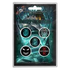 OFFICIAL LICENSED - DISTURBED - EVOLUTION 5 BADGE PACK HEAVY METAL