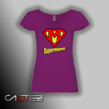 Camiseta mujer supermama super mama heroe regalo orginal dia madre ENVIO 24/48h