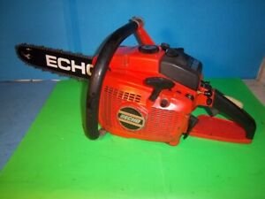 """USED RARE VINTAGE ECHO CST-610EVL TWIN CYLINDER CHAINSAW W/NEW 16""""  BAR & CHAIN"""