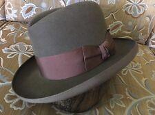 Dobbs 50's vintage Homburg size 6 7/8 fur felt