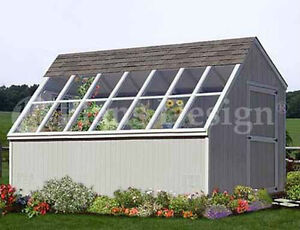 10 x 14 Greenhouse / Garden Storage Shed Plans, Material List Included #41014