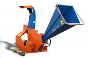"NEW Balfor 4"" Hydraulic feed tractor mounted wood chipper/shredder"