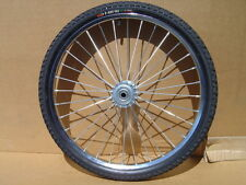 "Pair Horse Cart Wheels/Tires 24""x2.125""-5/8""Axle, 4"" Hubs"