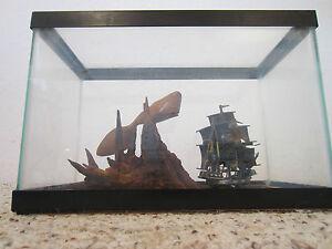 VINTAGE, MARITIME, CLIPPER SHIP & WHALE MODEL