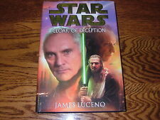STAR WARS CLOAK OF DECEPTION 1ST RETAIL HB BOOK JAMES LUCENO