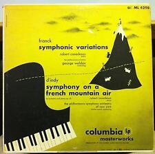 ROBERT CASADESUS d'indy & franck LP VG+ ML 4298 CBS 1950 Mono Cover 2