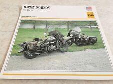 Fiche moto collection Atlas motorcycle Harley Davidson 750 WLA 45 1946
