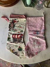 Cath Kidston Handmade Christmas X2 Stockings