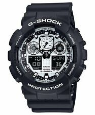Crazy Deal New Casio G-Shock GA100BW-1A Analog-Digital  Resin Strap Mens Watch