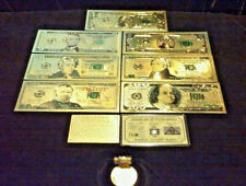 Full Gold Banknote Set Mint Condition $1,$,5,10,20,50,$100 W/ Certificate+More!l