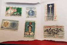 6 U.S Stamps. All Have Been Post Marked. Never Hinged. Aquired From A Big Box Of