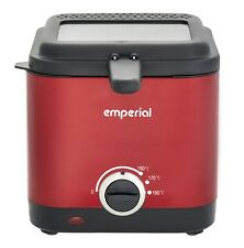 Emperial Deep Fat Fryer 1.5 Litre Chip Pan Basket Non Stick Oil Fry Compact 900W