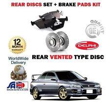 für Subaru Impreza 2.0i Turbo STi 1993-1998 Bremsscheiben SET HINTEN+BREMSBELÄGE