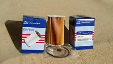 2 Hyundai Genuine Diesel oil filters for i30, i30 CW,  Accent (MY10 -), i40