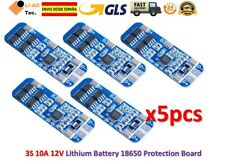 5pcs 3S 10A 12V Li-ion Lithium 18650 BMS PCM Battery Protection Board