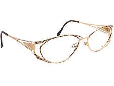 Cazal Women's Eyeglasses Mod. 138 Gold Oval Metal Frame 56[]15 130