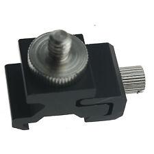 Universal Cold Flash Hot Shoe Bracket Lamp Holder + 1/4 Screw Adapter Mount