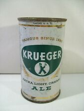 Vintage Krueger Extra Light Cream Ale Flat Top Beer Can 1950'S Empty Ale Can