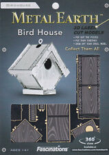 Fascinations Metal Earth 3D Laser Cut Steel Puzzle Model Kit - Bird House MMS039