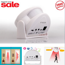 Motion Sensor Wireless Chime Alarm Door Bell Entry Welcome Alert Home Infrared