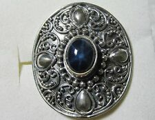 Star Sapphire Artisan Designed Ring, 925 Sterling Silver sz 7.5 -- 4.54cts, 7.3g