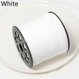 100 Yards Faux Suede Leather Jewelry Cord Flat Strap Velvet Lace Thread DIY